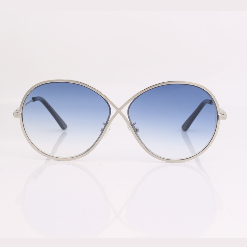 High quality butterfly frame blue gradient lens fashion women sunglasses