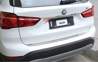 For BMW X1 F48 2016 2017 stainless steel Rear Boot Trunk Lid Molding Cover Trim 1PCS