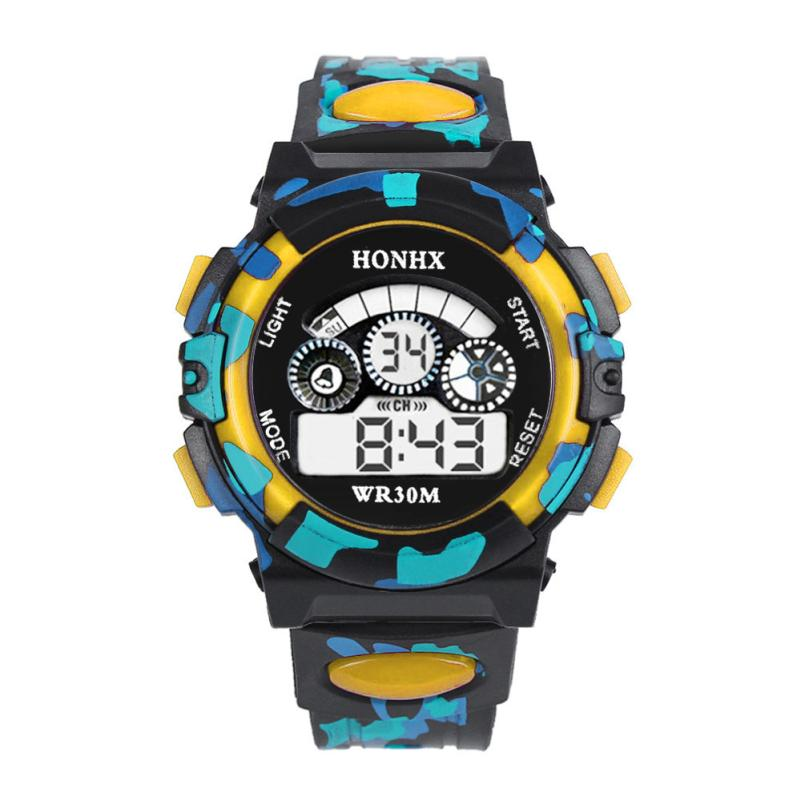 HONHX Цифровой детский часы Водонепроницаемый 3 бар Цифровой LED Кварцевый Будильник Дата Спорт Часы дети наручные часы орологи бамбини +% 23L05