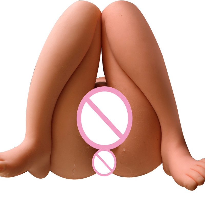 4kg Silicone Big Ass 3D sex doll artificial vagina Double Channels Sex Toys for Men Male masturbator cup Masturbate for man 4