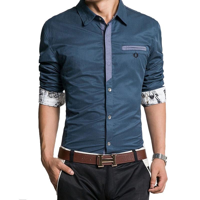 9515108ad Camisa de hombre Camisa nueva marca Denim hombre chemise homme camisas  sport de manga larga moda los pantalones vaqueros delgados camisas Masculin  Camisa ...