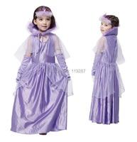 New Children Girls Print Cosplay Costume Snow White Princess Dress Costume Perform Clothes Party Dresses Vestidos