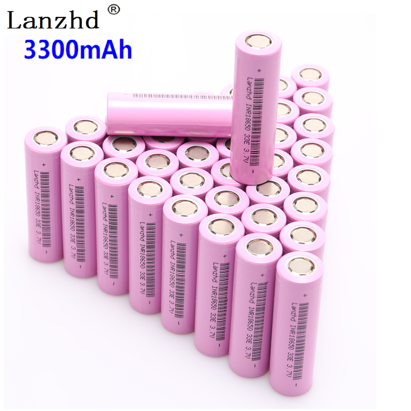 40PCS 18650 3.7V INR18650 Rechargeable batteries lithium li ion 3.7v 30a large current 18650VTC7 18650 battery-in Rechargeable Batteries from Consumer Electronics