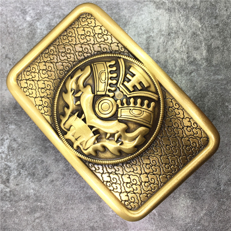 Beastmaster Solid Brass Belt Buckle Personality Man Belt Buckle DIY Accessories For Men Leather Belt BK0583