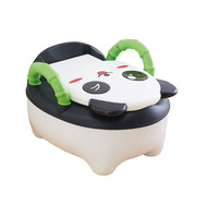 Children's Pot Plastic Lovely Panda Cozy Baby Toilet Training Boy Girls Unisex Child Toilet Seat Portable Baby Children's Potty
