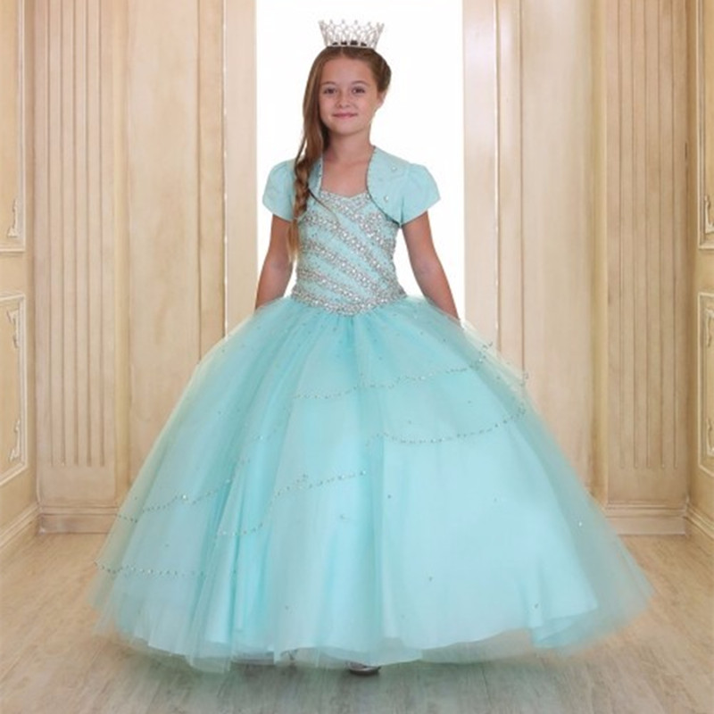 Fashion   Flower     Girl     Dress   Ball Gown Little Princess   Dresses   Pageant   Dresses   with Jacket for Wedding Party
