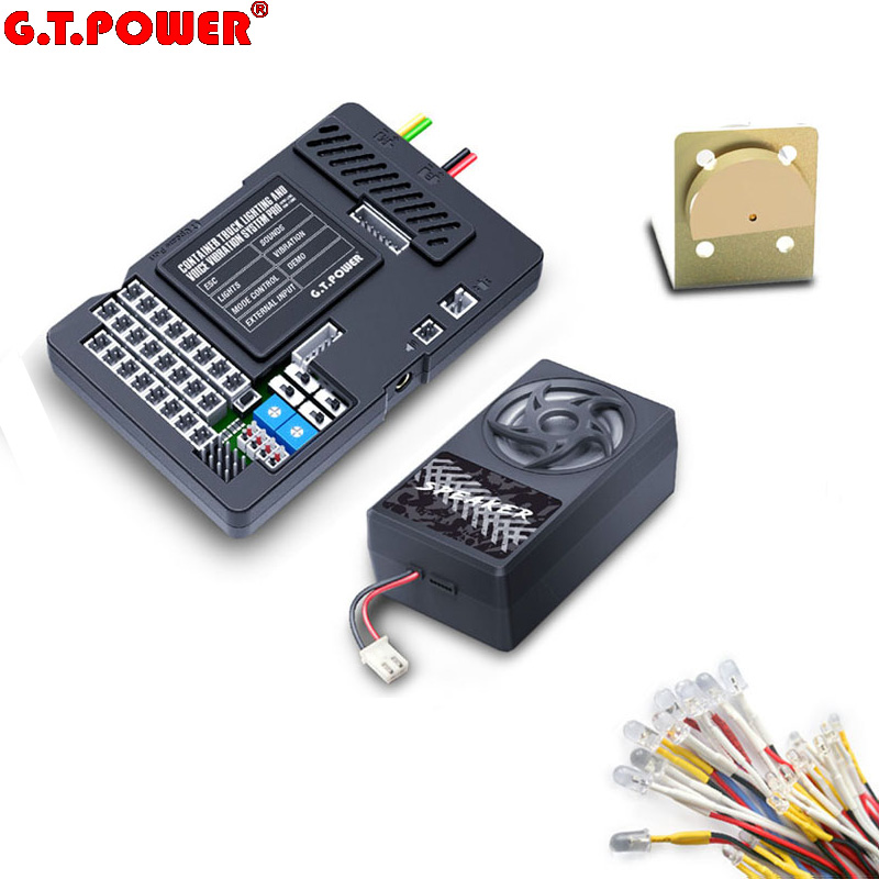 Original G T POWER Container Truck Lighting and Voice Vibration System Pro for Tamiya RC4WD Tractor