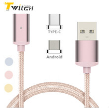 USB Type-C Magnetic Cable Micro USB Cable for Samsung Xiaomi LG G5 Huawei P9 Meizu Android Microusb Magnetic Charger Adapter