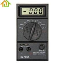 CM7115A Цифровой Практические Конденсатор Метр Мультиметр с Руководство Пользователя Тестовые провода