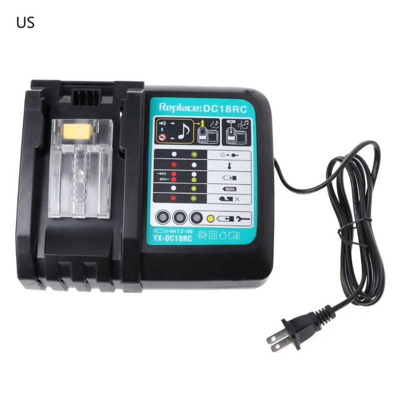 3A Li-ion Battery Charger For Makita DC18RC BL1830 BL1815 BL1840 BL1850 14.4-18V3A Li-ion Battery Charger For Makita DC18RC BL1830 BL1815 BL1840 BL1850 14.4-18V