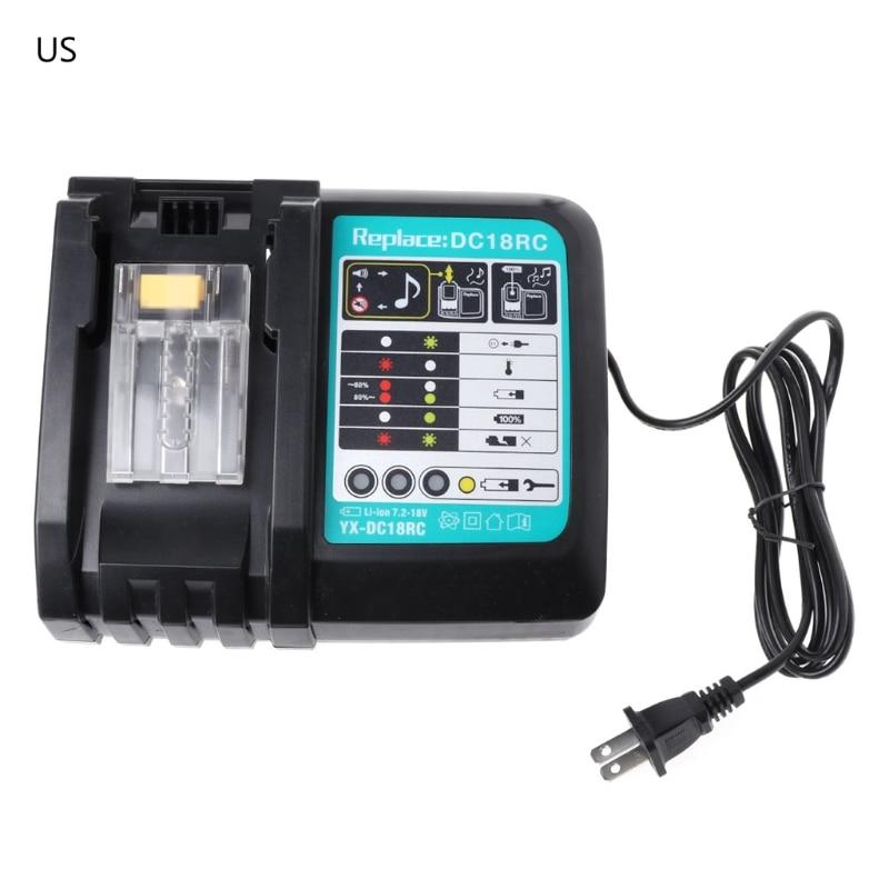 3A Li-ion Chargeur De Batterie Pour Makita DC18RC BL1830 BL1815 BL1840 BL1850 14.4-18 V3A Li-ion Chargeur De Batterie Pour Makita DC18RC BL1830 BL1815 BL1840 BL1850 14.4-18 V
