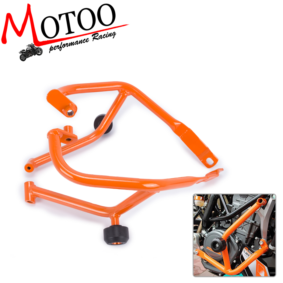 Motoo- For KTM DUKE 390 DUKE390 Motorcycle Accessories Engine Protetive Guard Crash Bar Protector 2013-2016 motorcycle cnc balance bar for ktm 125 duke 200 duke 390 handle rebar handlebar modification parts accessories balance bar