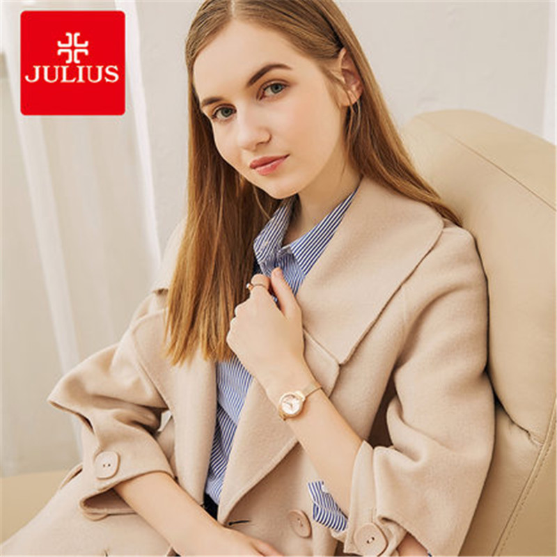 Julius Women Watch Brand Luxury Ladies Quartz Watch Female Silver Stainless Steel Bracelet Dress Watch Relogio Feminino E1 xinge top brand luxury women watches silver stainless steel dress quartz clock simple bracelet watch relogio feminino