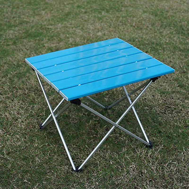 ABLA Portable Table Foldable Folding Camping Hiking Table Travel Outdoor Picnic Aluminum Super Light