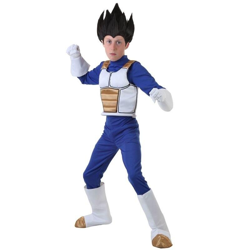 Dragon Ball végéta Cosplay Costume Halloween pour adultes/enfants petits garçons uniforme fête jeu de rôle