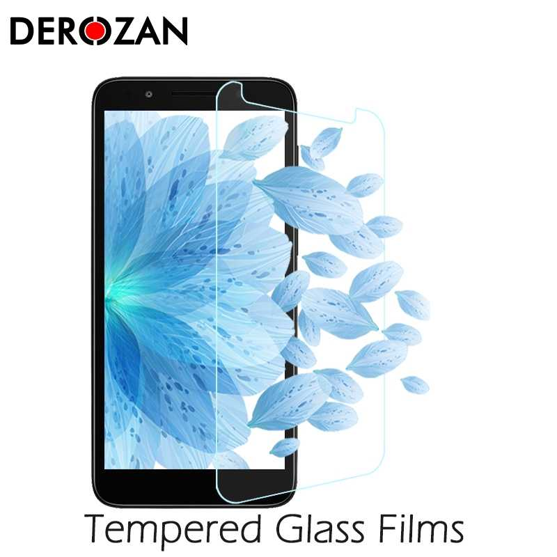 DEROZAN Screen Protectors For Alcatel 1X Tempered Glass For Alcatel 1X 5059D 5059 5059A 5.3 inch Proctive Ultra Thin Front Film