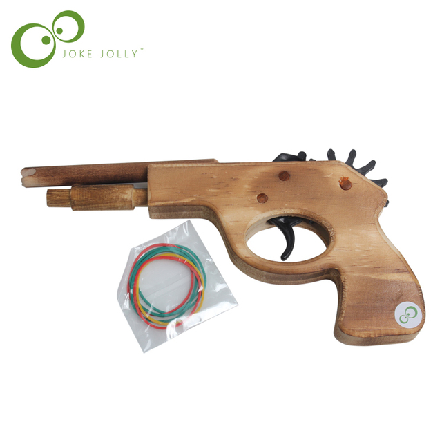 Hot Sale Toy Guns 2016 Wooden Toy Rubber Band Bullet Guns Weapon Pistol Pistola de Brinquedo Slugterra Toys Pistola Juguete GYH