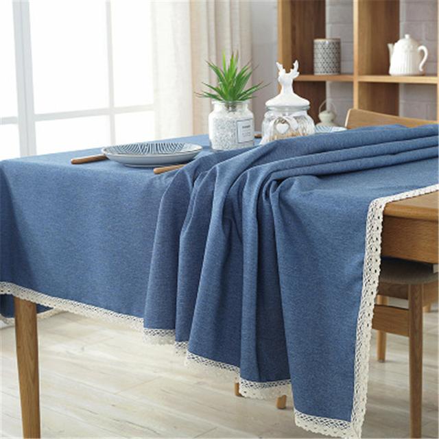 Rectangle Plain Woven Tablecloth