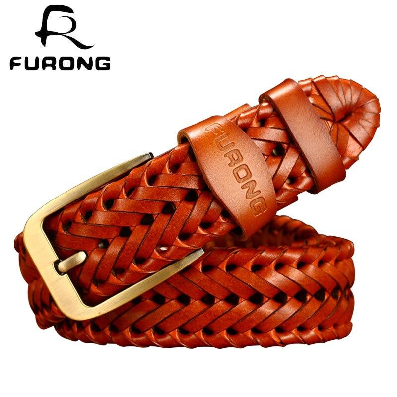 Hot Sale Fashion Pin Buckle Belt 2018 New Luxury Strap Belts Real Cow Leather Genuine Leather Men Belt Weaven Belts Leisure