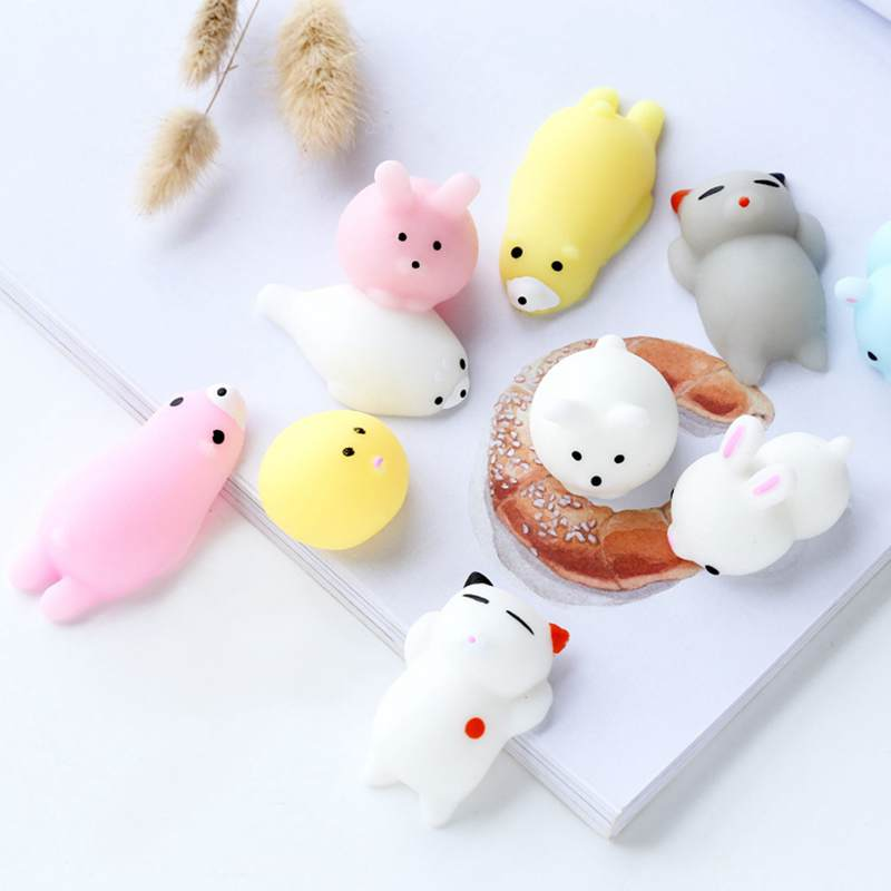 Squishy Toys Cats : funny gift Mini Squishy toy Cute cat antistress ball Squeeze Fun Joke Rising Toys Abreact Soft ...