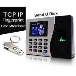 Dispositivo de grabación de tiempo rápido con respaldo de batería tiempo de asistencia registros de comprobación en tiempo Real 2000 usuarios registro de tiempo del personal