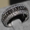 Victoria Wieck Jóias Vintage 925 Sterling Silver Topázio Rotatable Simulados de Casamento Do Diamante Mulheres Anel de Dedo para o Amor Size5-11