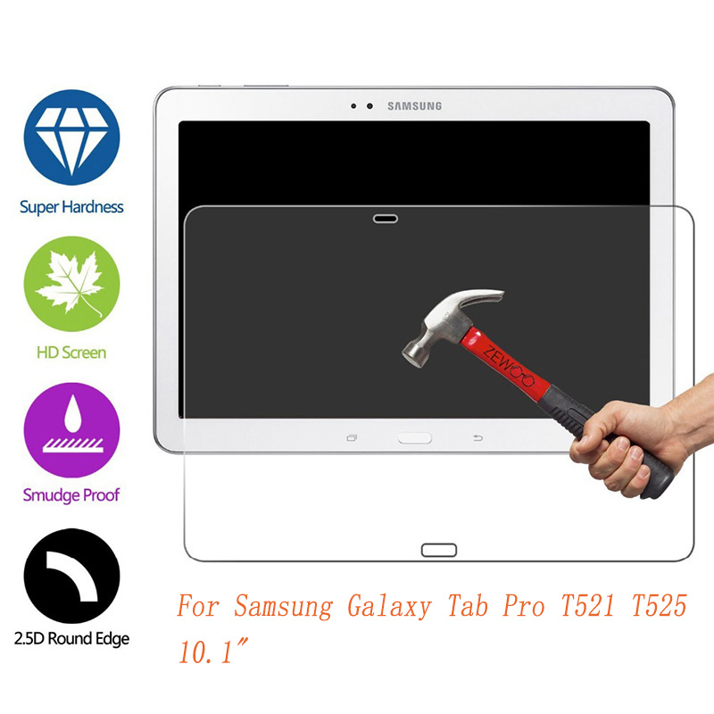 Tempered Glass For Samsung Galaxy Tab Pro T520 T525 10.1 Inch Screen Protect Tablet Film Screen Protect Cover For SM-T521 Glass
