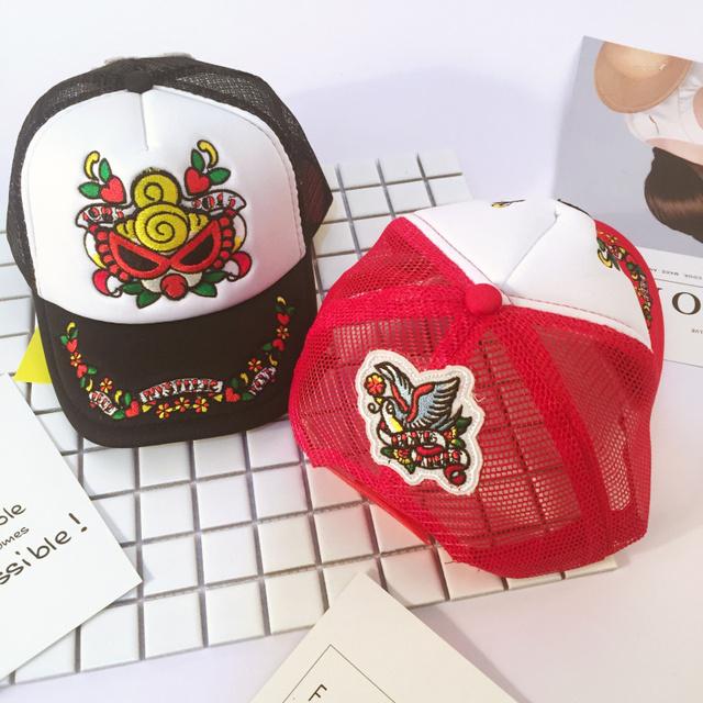 Marca de moda de nova super respirável boné de beisebol com malha estilo verão chapéus pala de sol para meninos menina kidadjustable snapback chapéus