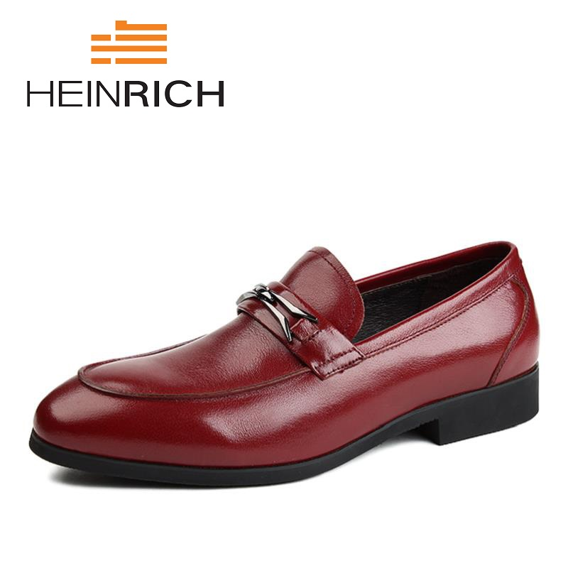 HEINRICH 2018 New Brand Fashion Spring/Autumn Style Loafers Casual Shoes Top Quality Men Genuine Leather Flats Driving Shoes brand 2018 new comfortable casual shoes loafers men shoes high quality driving shoes fashion trends spring and autumn bh a0054