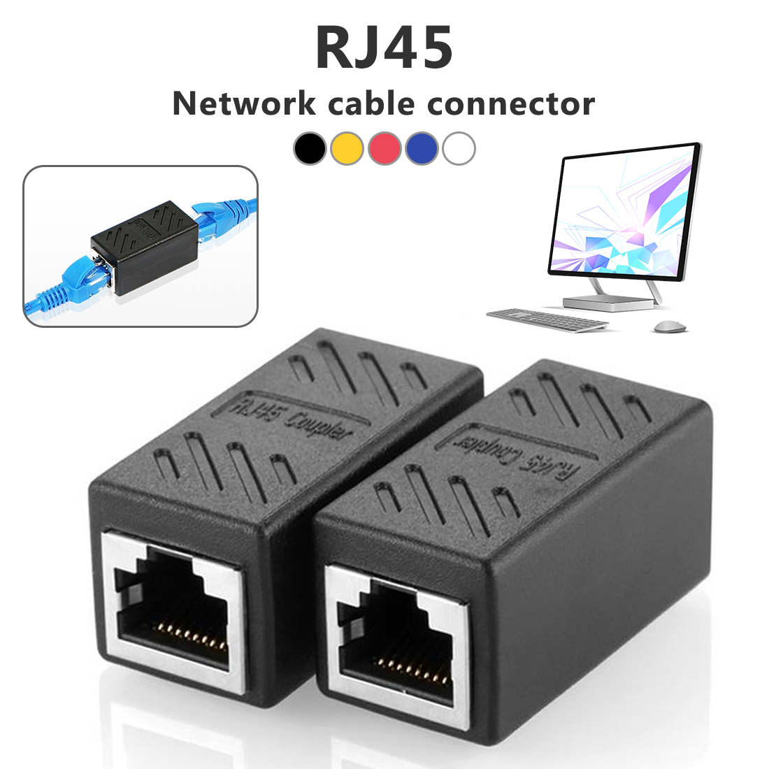 RJ45 straight-through head network straight-through head network line extension head network line butt joint forming
