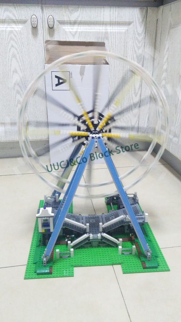 LEPIN 15012 2518Pcs Street View series Ferris wheel playground Model Building Blocks Set Bricks Toys For Children Gift 10247 lepin 15012 2478pcs city series expert ferris wheel model building kits blocks bricks lepins toy gift clone 10247
