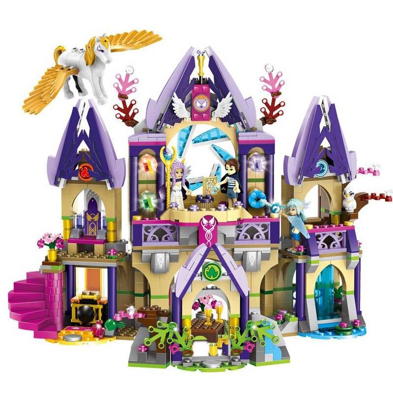 Compatible With legoe Elves 41708 Skyra's Mysterious Sky Castle Model Building Kit mini Blocks Brick Toys fot children 79225