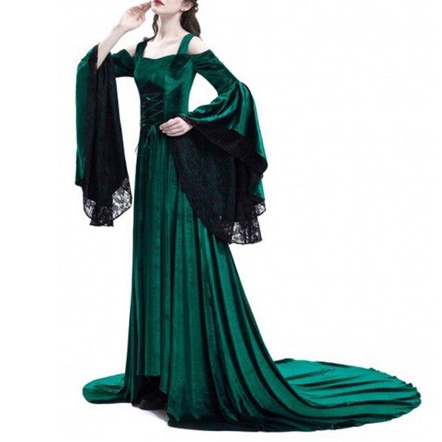Vintage Renaissance Princess Gothic Dress Costume Medieval Gown 1970s Long Dress 3