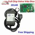 Melhor Qualidade Para Volvo Vida Dice 2014D Chip OBD2 Diagnóstico Completo ferramenta Profissional Para Volvo Vida Dice Com Placa PCB Verde Livre navio
