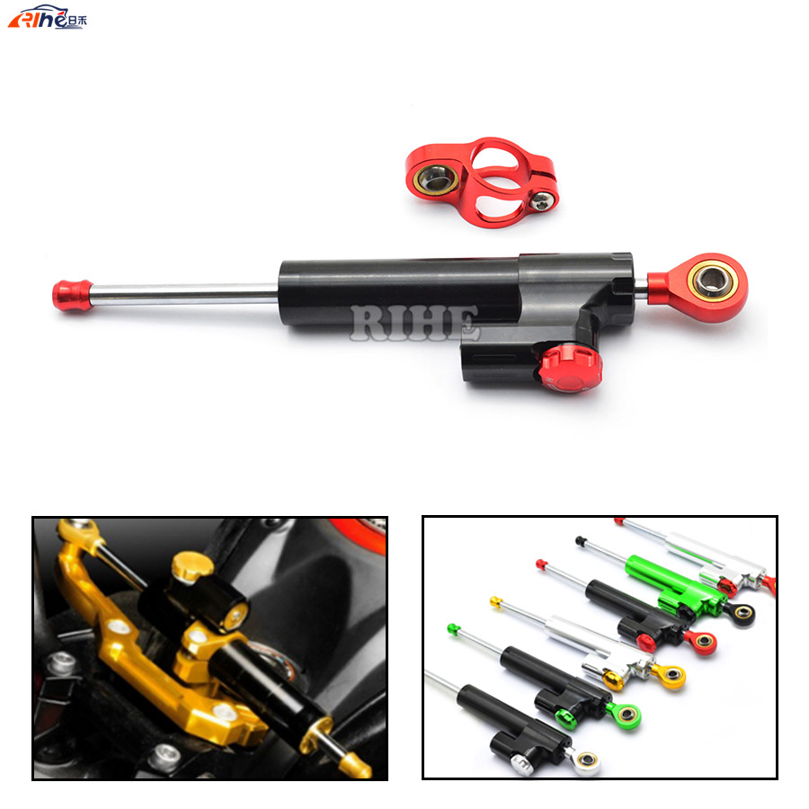 Universal CNC Motorcycle Street Bike Steering Damper Stabilizer Adjustable For HONDA CBR600F CBR DUCATI MONSTER M400 M600 Z1000 free shipping universal cnc motorcycle street bike steering damper stabilizer adjustable gray