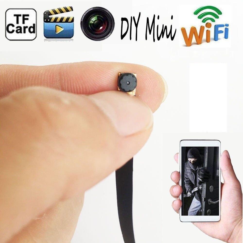 font b Wireless b font Camera Nanny Cam WIFI HD DIY Mini Micro DVR Black
