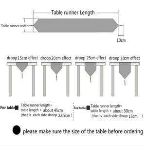 Image 5 - Chemin De Table en coton et lin, De Style nordique et moderne minimaliste, pour meuble TV japonais, Long, pour Table basse, pour lit