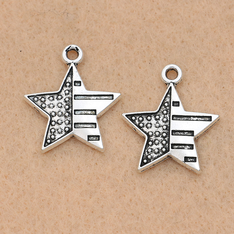 Silver American Flag * CHARM for bracelet zgHIVKFtW