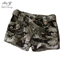 2016 Fashion Shorts Women Military Camouflage Print Summer Style Sexy Short Feminino Pantaloon Femme Rivet Plus Size S~4XL