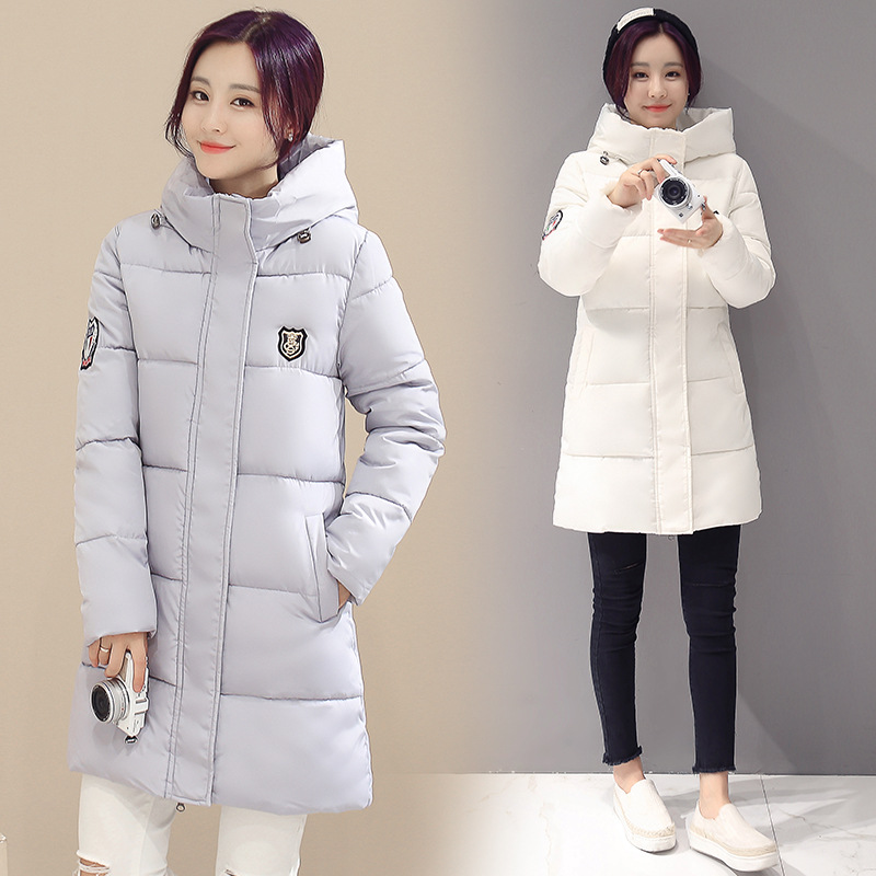 Winter jacket women long plus size 3XL   down   jacket woman hooded warm zipper   coats   fashion winter 2018 womens jackets white