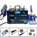 2 в 1 Saike 952D Тепловая пушка демонтажная станция Электропаяльник цифровой дисплей Сварка при постоянной температуре инструменты