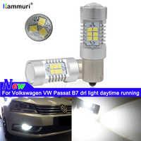 Weiß 6000K Canbus Kein Fehler 1156 P21W Led-lampe für Volkswagen Passat B7 2011 2012 2013 2014 Tagfahrlicht lichter DRL