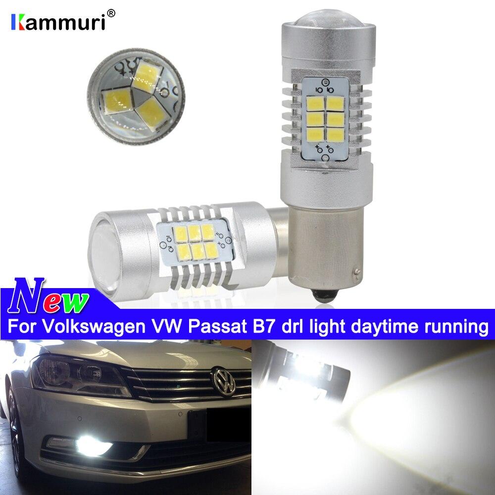 VW T5 T6 TRANSPORTER DRL LED DAYTIME RUNNING LIGHT UPGRADE NO CANBUS BULBS WHITE