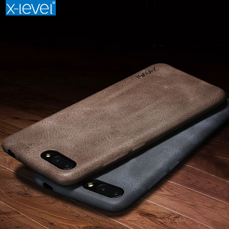 Leather Case For Huawei Honor 10 X-level Original Soft Luxury PU 360 Full Protection Back Cover Case For Huawei Honor 10