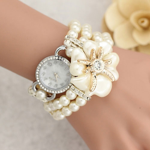 Fashion Pearl Bracelet Quartz Watch Women Watches 2017 Ladies Wristwatches Female Clock Girl Hour Montre Femme Relogios Feminino sinbo sfh 3365 белый