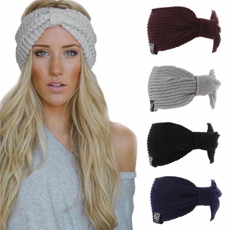 Multifunction Winter Women s Hat Ear Warmer Headwrap Crochet Turban Knitted  Wool Head Wrap Beanies Cap Hip 2f78dd3e8730