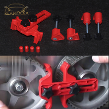 Reamocea 1 комплект Красный Автомобильный распределительный двигатель зубчатая Звездочка запирающий двойной Кулачковый Зажим набор инструментов для VW Golf Mazda для Hyundai Peugeot
