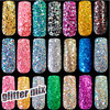 500g Bag Wholesale Mix Color Size Nail Glitter Powder Tips DIY Nail Art Sequins Powder Super