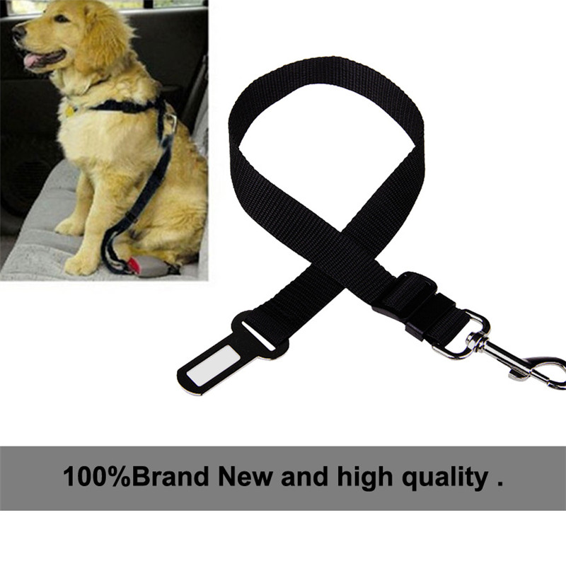 TTLIFE 2 Colors Adjustable Pet Cat Dog Car Safety Seat Belt Harness Vehicle Seatbelt Lead Leash for Dogs