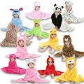Flannel Cartoon Hooded Towel Animal Modeling Cloak Baby Towel Baby Bath Towel Robe 16 Styles Bathrobe Bathing 78 cm * 85cm